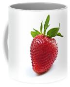 Strawberry On White Background Coffee Mug by Elena Elisseeva