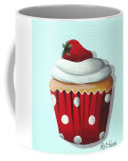 Strawberry Shortcake Cupcake Coffee Mug by Catherine Holman