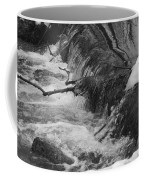 Stream Cascades Over Small Dam Coffee Mug