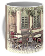 Street Cafe In Heidelberg Coffee Mug