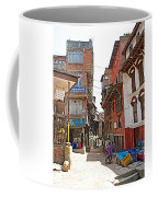 Street In Bhaktapur-city Of Devotees-nepal  Coffee Mug