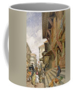 Street In Bombay, From India Ancient Coffee Mug