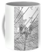 Street Lamps And Straight Lines Coffee Mug
