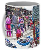 Street Market View From A Rickshaw In Kathmandu Durbar Square-nepal Coffee Mug