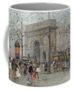 Street Scene In Paris Coffee Mug by Eugene Galien-Laloue
