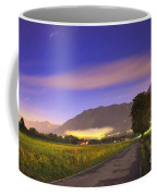 Street With A Tree And Mountain Coffee Mug