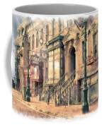 Streets Of Old New York City Watercolor Coffee Mug
