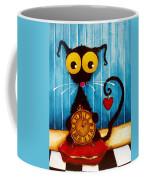 Stressie Cat And The Tick Tock Coffee Mug