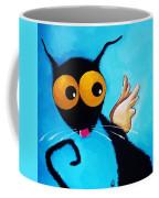 Stressie Cat Angel Coffee Mug