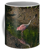 Stretched Out Pink Spoonbill Coffee Mug