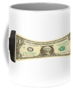 Stretching The Dollar Coffee Mug by Olivier Le Queinec