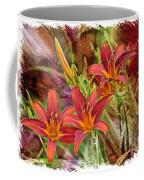Striking Daylilies - Digital Art Coffee Mug