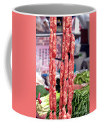 String Of Handmade Sausages Coffee Mug