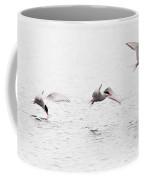 Stroboscopic Study Of Flying Arctic Tern Over Lake Coffee Mug