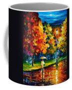 Stroll In The Night - Palette Knife Oil Painting On Canvas By Leonid Afremov Coffee Mug