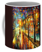 Stroll With My Best Friend - Palette Knife Oil Painting On Canvas By Leonid Afremov Coffee Mug