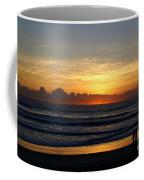 Strolling The Beach During Sunset Coffee Mug