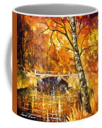 Strong Birch - Palette Knife Oil Painting On Canvas By Leonid Afremov Coffee Mug