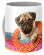 Stuck Pug Coffee Mug by Greg Cuddiford