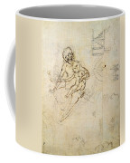 Studies For A Virgin And Child And Of Heads In Profile And Machines, C.1478-80 Pencil And Ink Coffee Mug