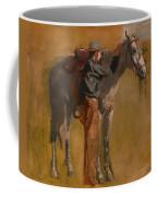 Study For Cowboys In The Badlands Coffee Mug