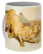Study For Daniel In The Lions Den Coffee Mug