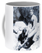 Study Of A Nude Boy With Dog Coffee Mug by Wilhelm von Gloeden