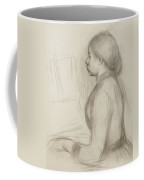 Study Of A Young Girl At The Piano Coffee Mug