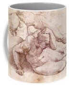 Study Of Three Male Figures Coffee Mug