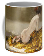 Study Over A Silk Drapery Coffee Mug