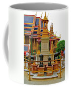 Stupa Surrounded By Elephants At Grand Palace Of Thailand In Ban Coffee Mug