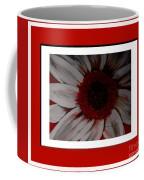 Stylized Daisy With Red Border Coffee Mug