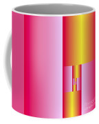Subdivisions 2 In Gold And Cerise Coffee Mug