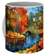 Sublime Park - Palette Knife Oil Painting On Canvas By Leonid Afremov Coffee Mug