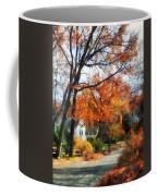 Suburban Street In Autumn Coffee Mug
