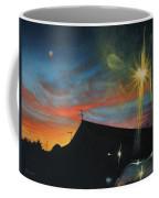 Suburban Sunset Oil On Canvas Coffee Mug