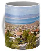Suburbs And Lake Mead With Surrounding Coffee Mug
