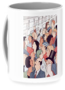 Subway Riders All Resemble Eustace Tilley Coffee Mug