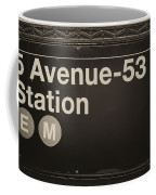 Subway Station Sign Coffee Mug