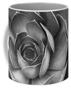 Succulent In Black And White Coffee Mug