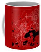 Sudbury Street Map - Sudbury Canada Road Map Art On Color Coffee Mug