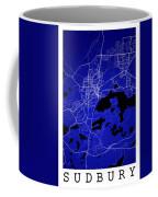 Sudbury Street Map - Sudbury Canada Road Map Art On Colored Back Coffee Mug