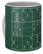 Sudoku On A Chalkboard Coffee Mug