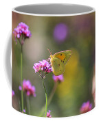 Sulphur Butterfly On Verbena Flower Coffee Mug