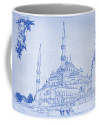 Sultan Ahmed Mosque Istanbul Blueprint Coffee Mug