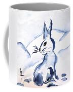 Sumi-e Snow Bunny Coffee Mug