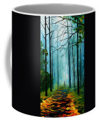 Summer Forest - Palette Knife Oil Painting On Canvas By Leonid Afremov Coffee Mug