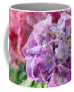 Summer Hydrangeas With Painted Effect Coffee Mug