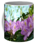 Summer Rhodies Flowers Purple Floral Art Prints Coffee Mug