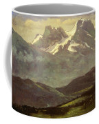 Summer Snow On The Peaks Or Snow Capped Mountains Coffee Mug